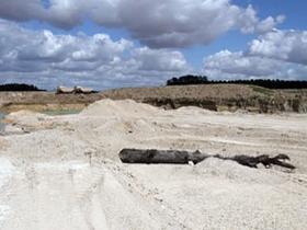 gravel pits